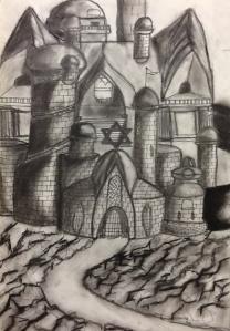Trumbull High School student's work.