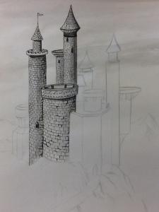 Step 3- adding details with fine Black marker pens.