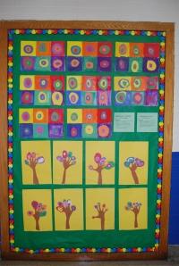 "Kindergarten & 3rd Grade Bulletin Board ""Kandinsky"""