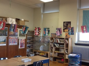 Art Classroom Display of Students Work