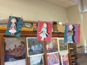 Art Classroom Display of Students Work