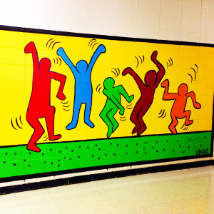Keith Haring Inspired Mural I did last year.