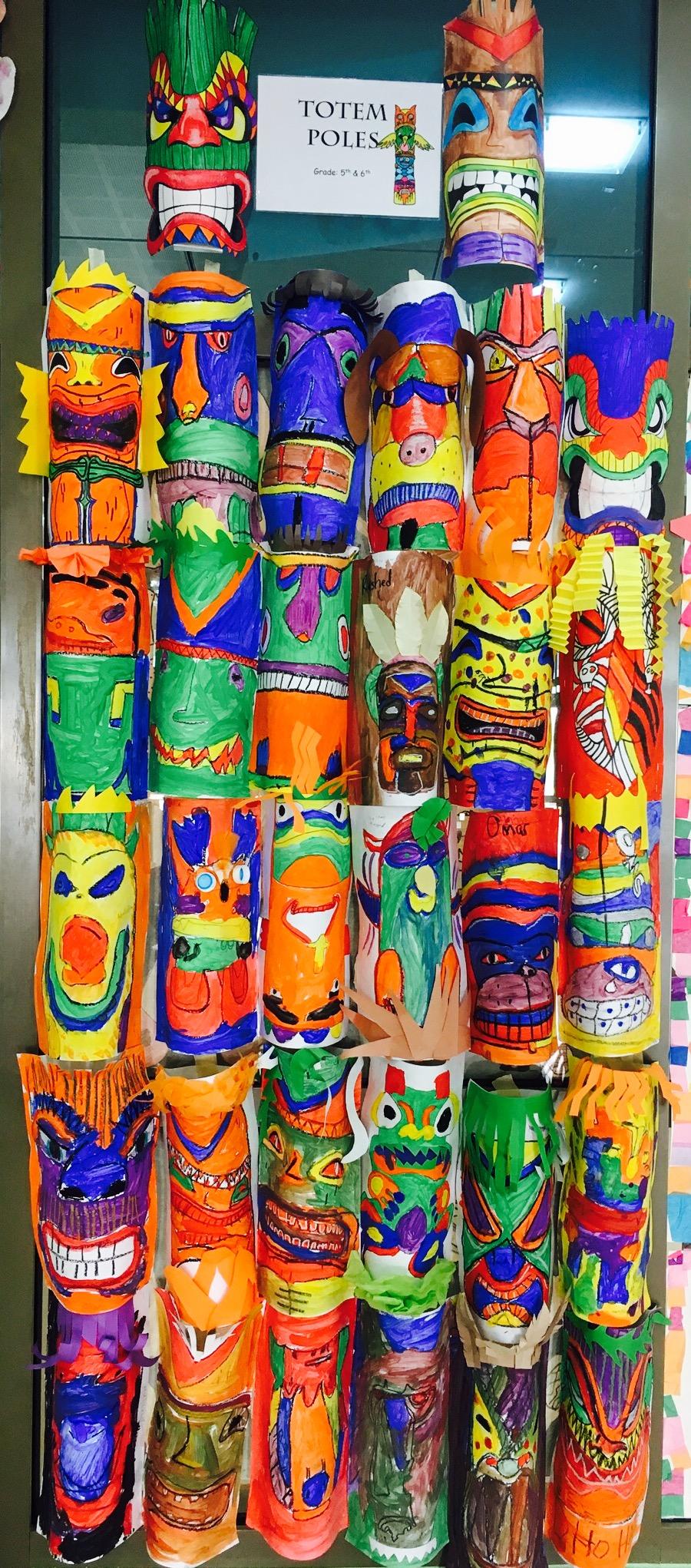 5-6 Grade UAE Boys Totem Poles
