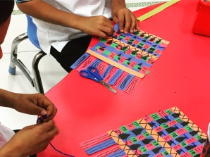 Making African Kente Cloths